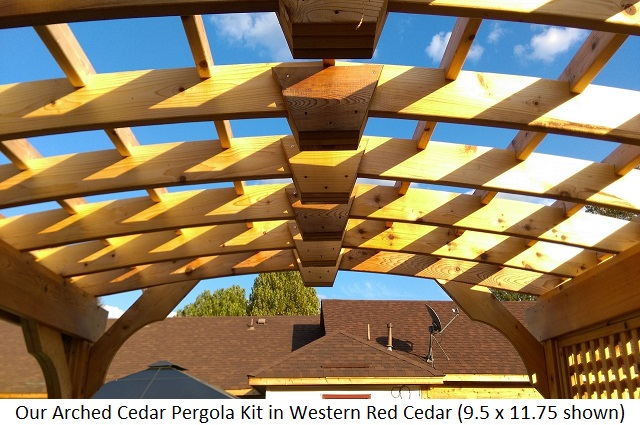 10x12 Serenity Pergola Kit In Western Red Cedar Tyrone Ga