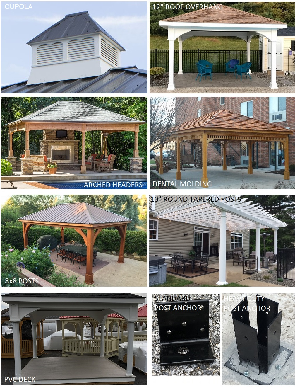 Patio cover and pavilion options