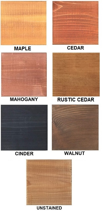 Stain Options for the Serenity Pergola